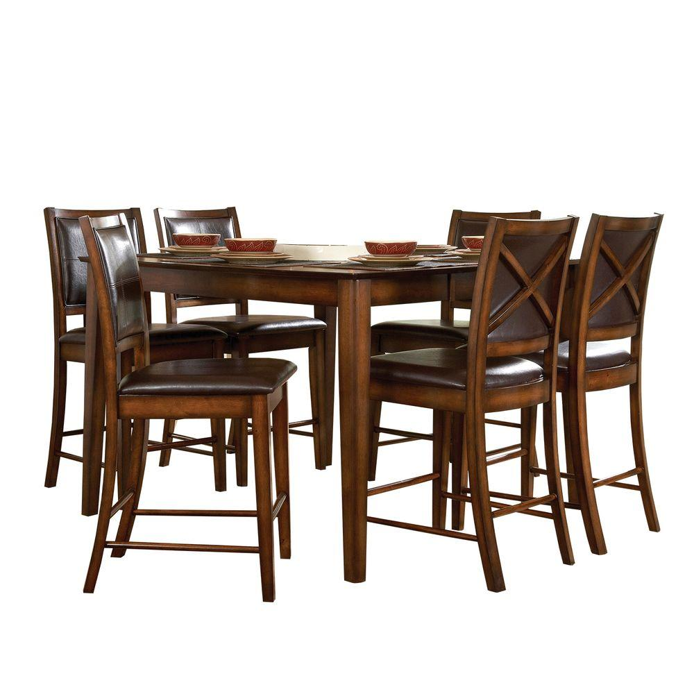 null Nelson 5-Piece Rectangular Dining Set in Cherry