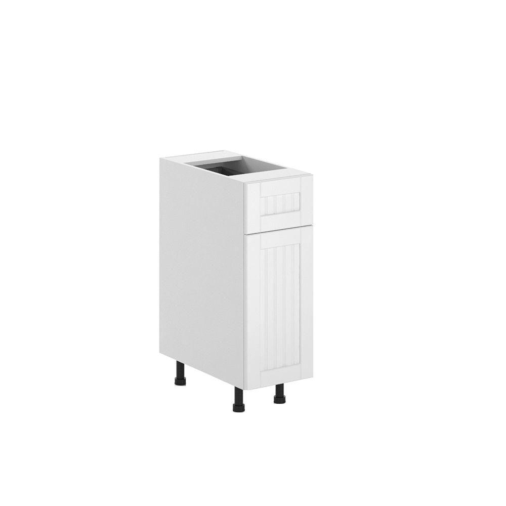 Ready to Assemble 12x34.5x24.5 in. Odessa Base Cabinet in White Melamine
