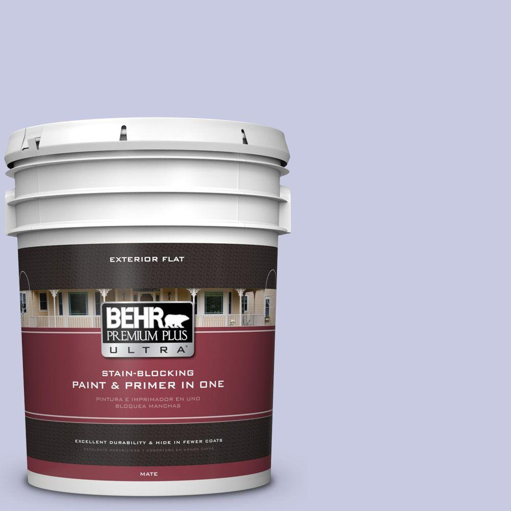 BEHR Premium Plus Ultra 5-gal. #630C-3 Timeless Lilac Flat Exterior Paint