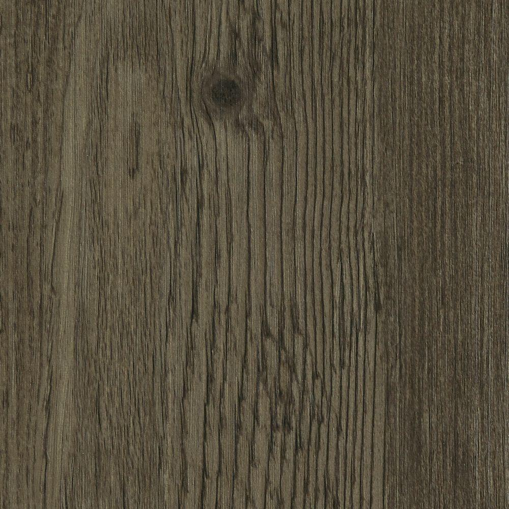 Hickory Lava 4 mm Thick x 7 in. Wide x 48 in. Length Click Lock Luxury Vinyl Plank (23.36 sq. ft. / case), Smoke Gray/Embossed