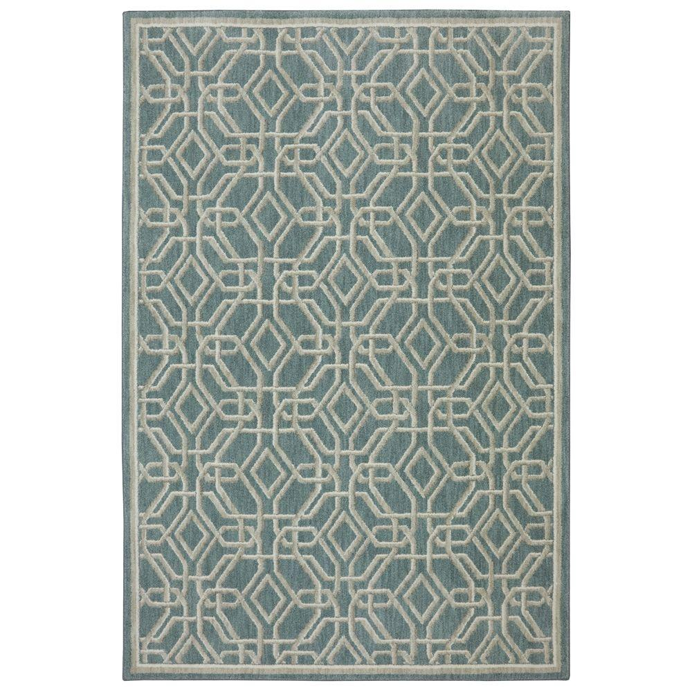 Reflections Abbott Bay Blue 5 ft. 3 in. x 7 ft. 10 in. Area Rug