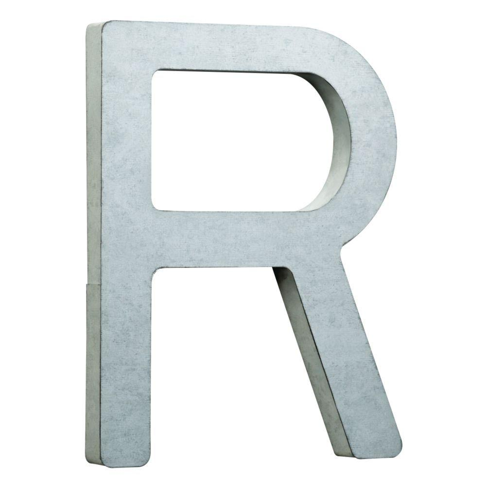 liberty 8 in vintage style galvanized steel letter r hdcb With galvanized steel letters