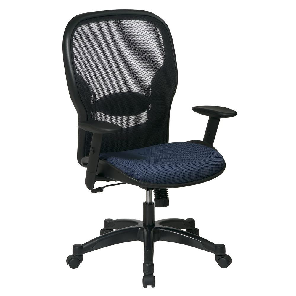 Office Star Professional AirGrid Back Manager's Chair in Indigo