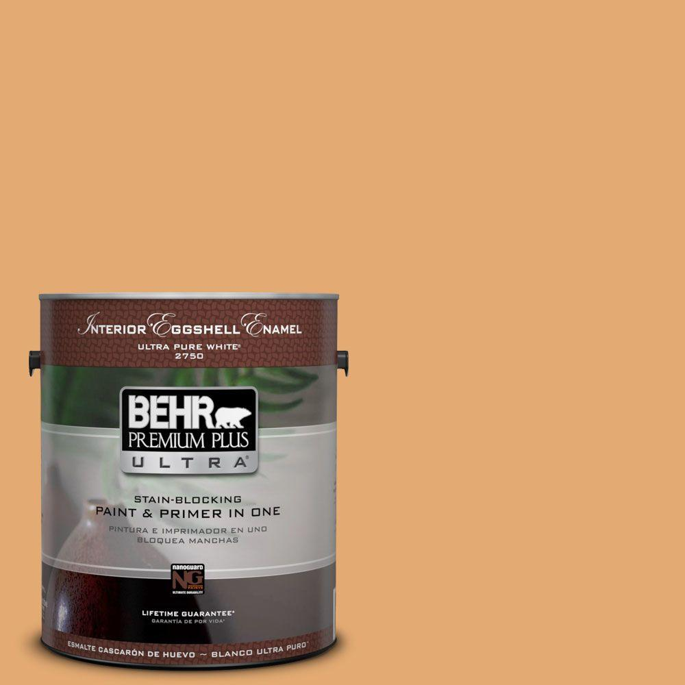 BEHR Premium Plus Ultra 1-gal. #PMD-75 Autumn Gourd Semi-Gloss Enamel Interior