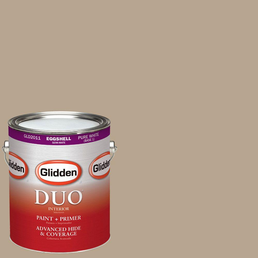 Glidden DUO 1-gal. #HDGWN08U Palm Springs Tan Eggshell Latex Interior Paint with Primer