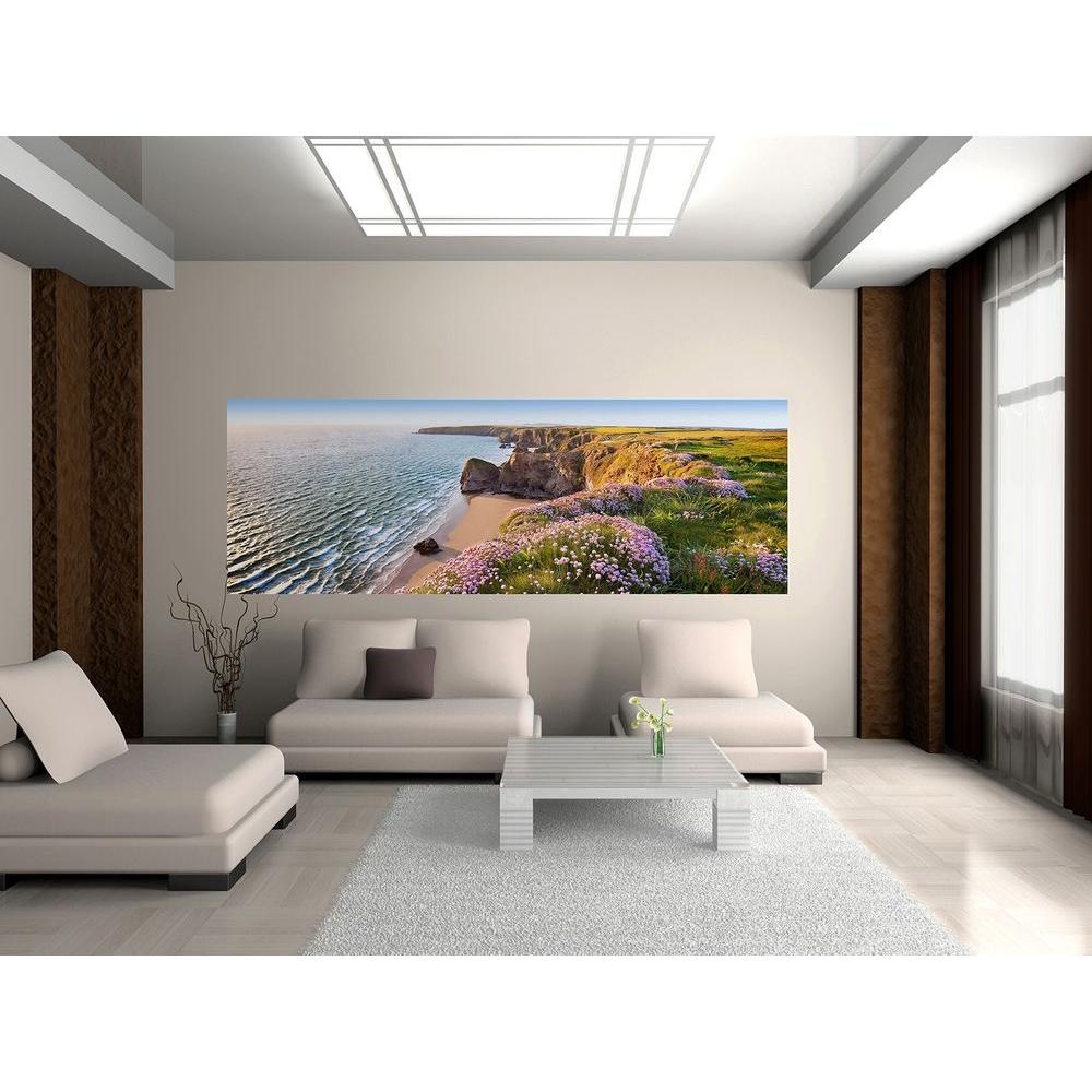 Ideal Decor 50 in. x 0.25 in. Nordic Coast Wall Mural
