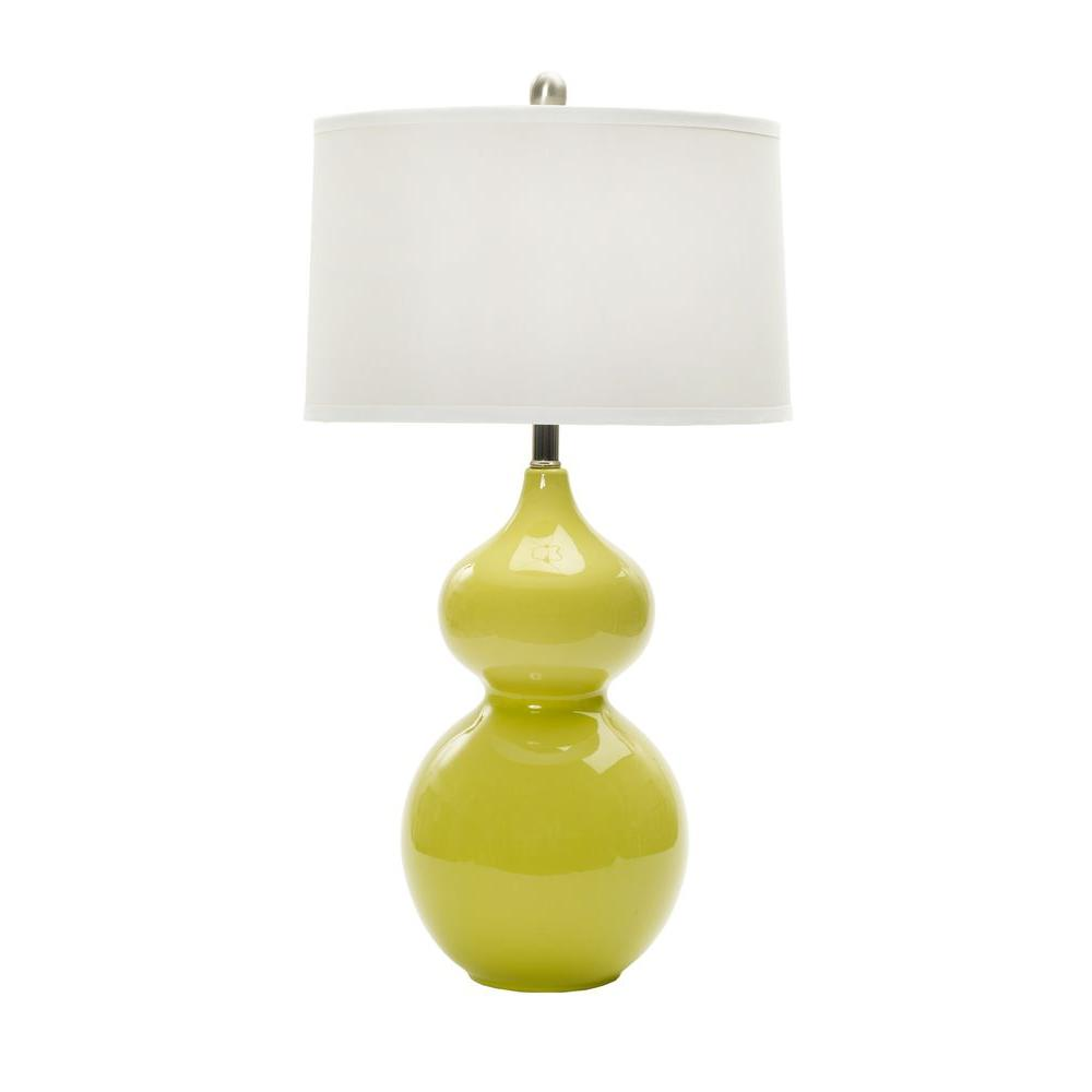 28 in. Chic Lime Ceramic Table Lamp