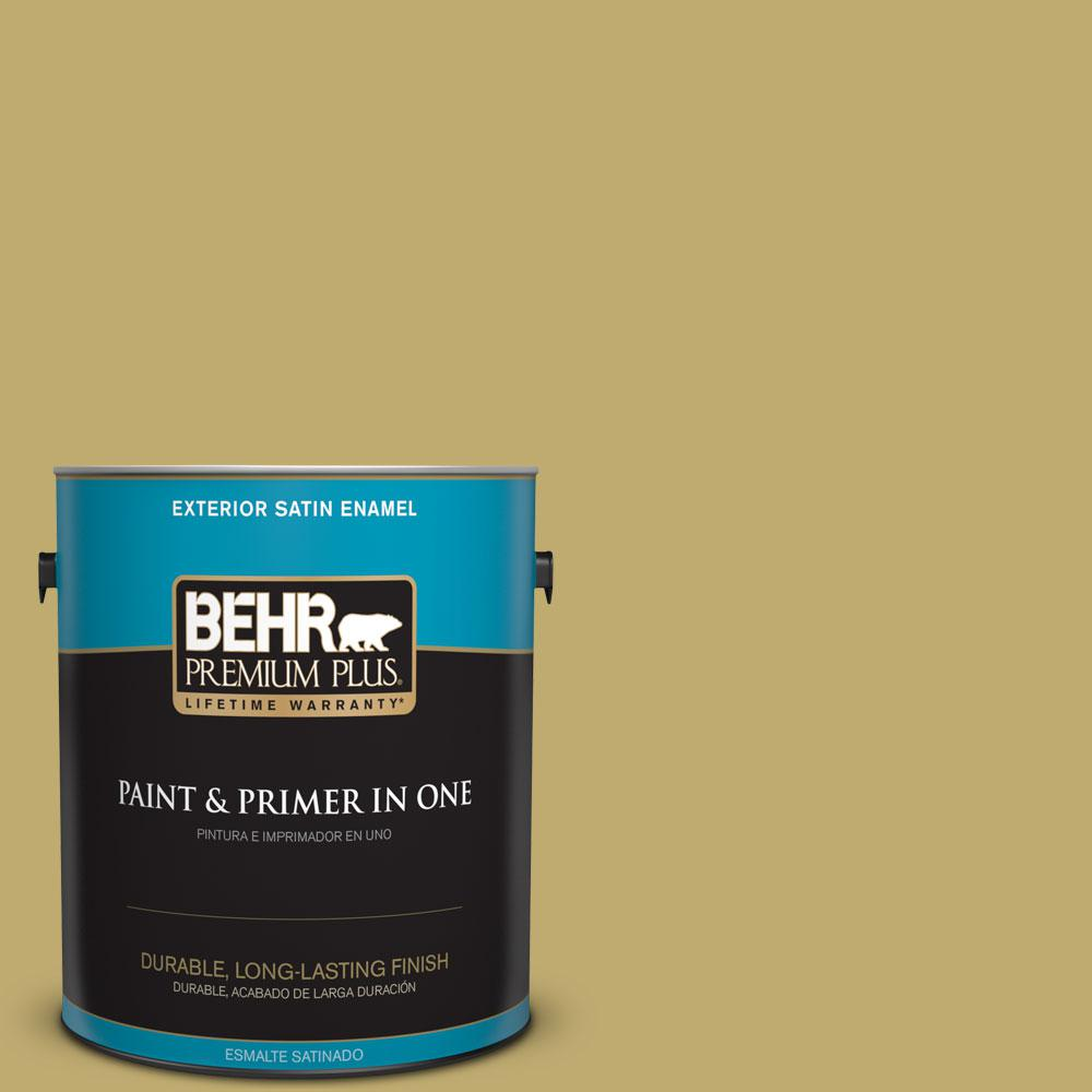 1-gal. #370F-5 Coriander Seed Satin Enamel Exterior Paint