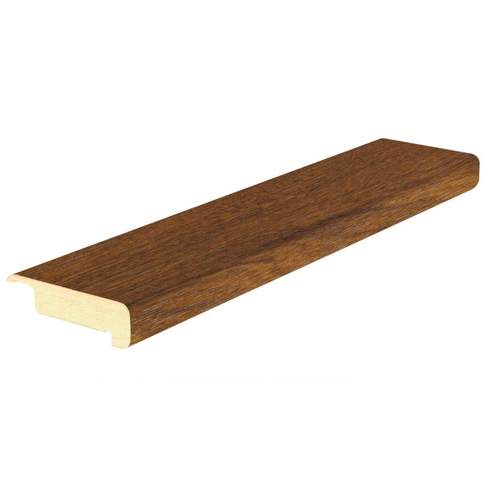Mohawk Cognac Merbau 3/4 in. Thick x 2-1/2 in. Wide x 94 in. Length Laminate Stair Nose Molding-DISCONTINUED