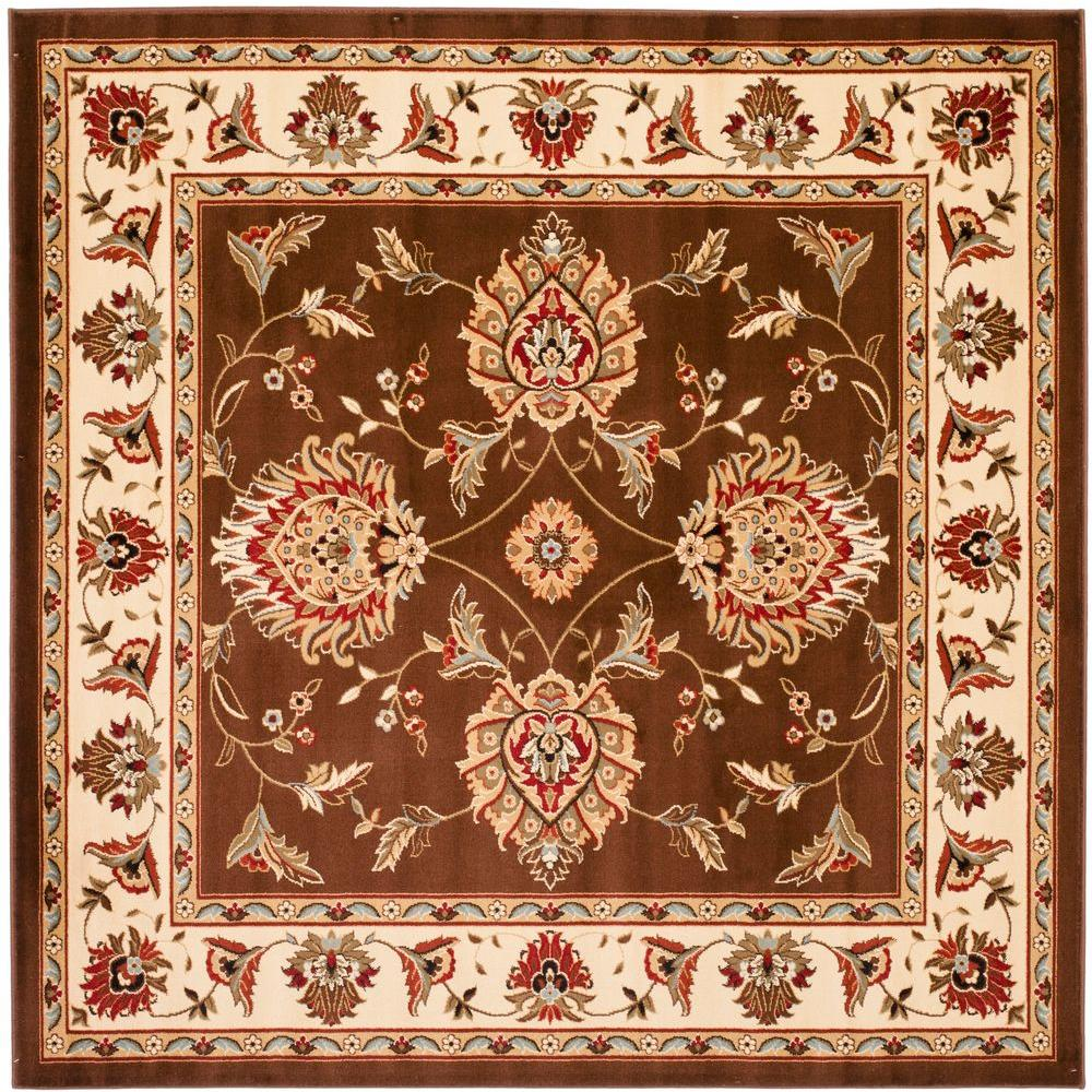 Safavieh Lyndhurst Brown/Ivory 6 ft. 7 in. x 6 ft. 7 in. Square Area Rug