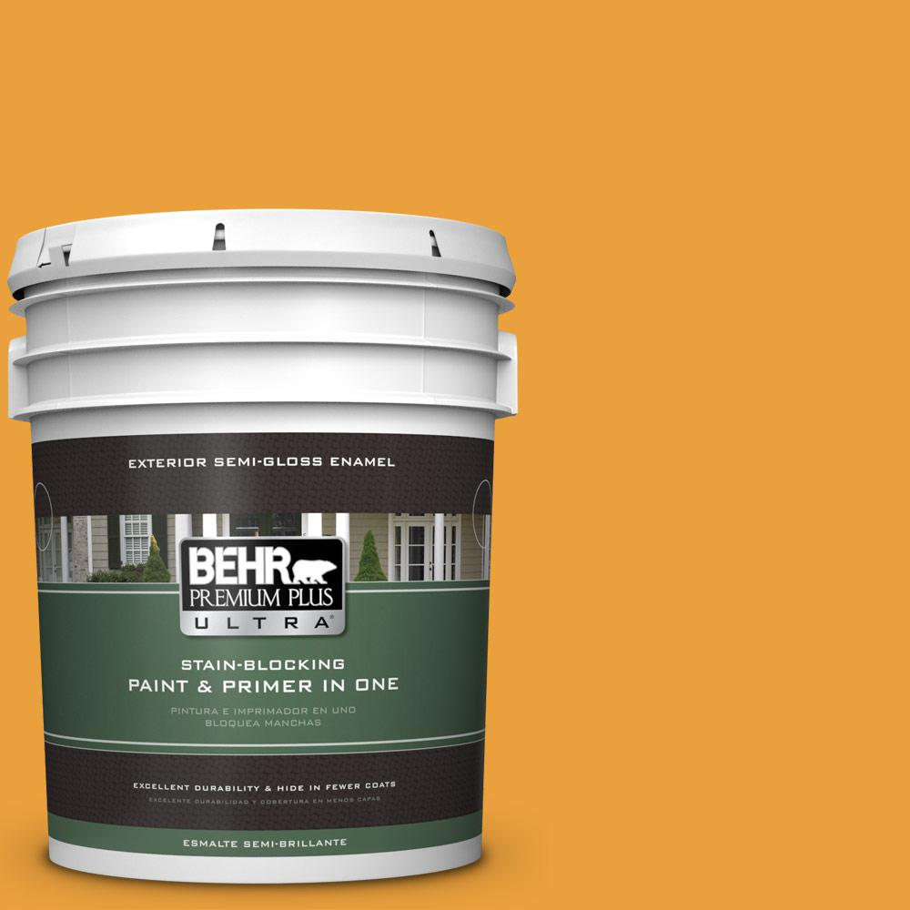 5 gal. #HDC-FL14-5 Gilded Leaves Semi-Gloss Enamel Exterior Paint