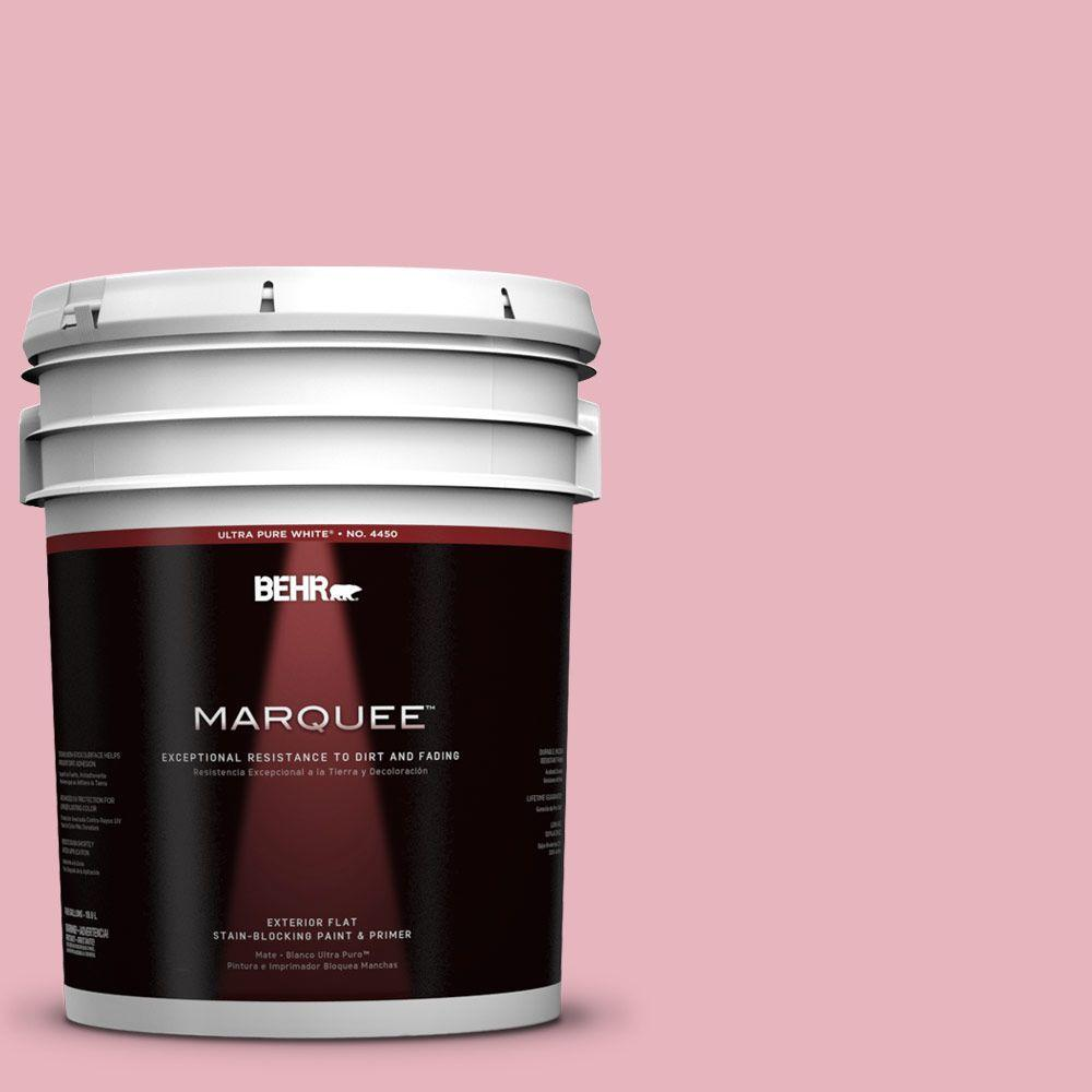 5-gal. #110C-2 Colonial Rose Flat Exterior Paint