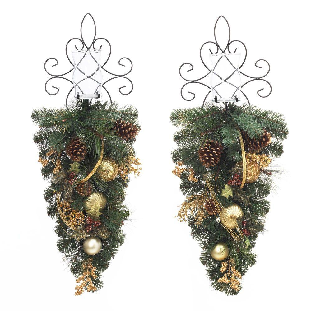 36 in. Unlit Golden Holiday Artificial Mixed Pine Swag (Set of