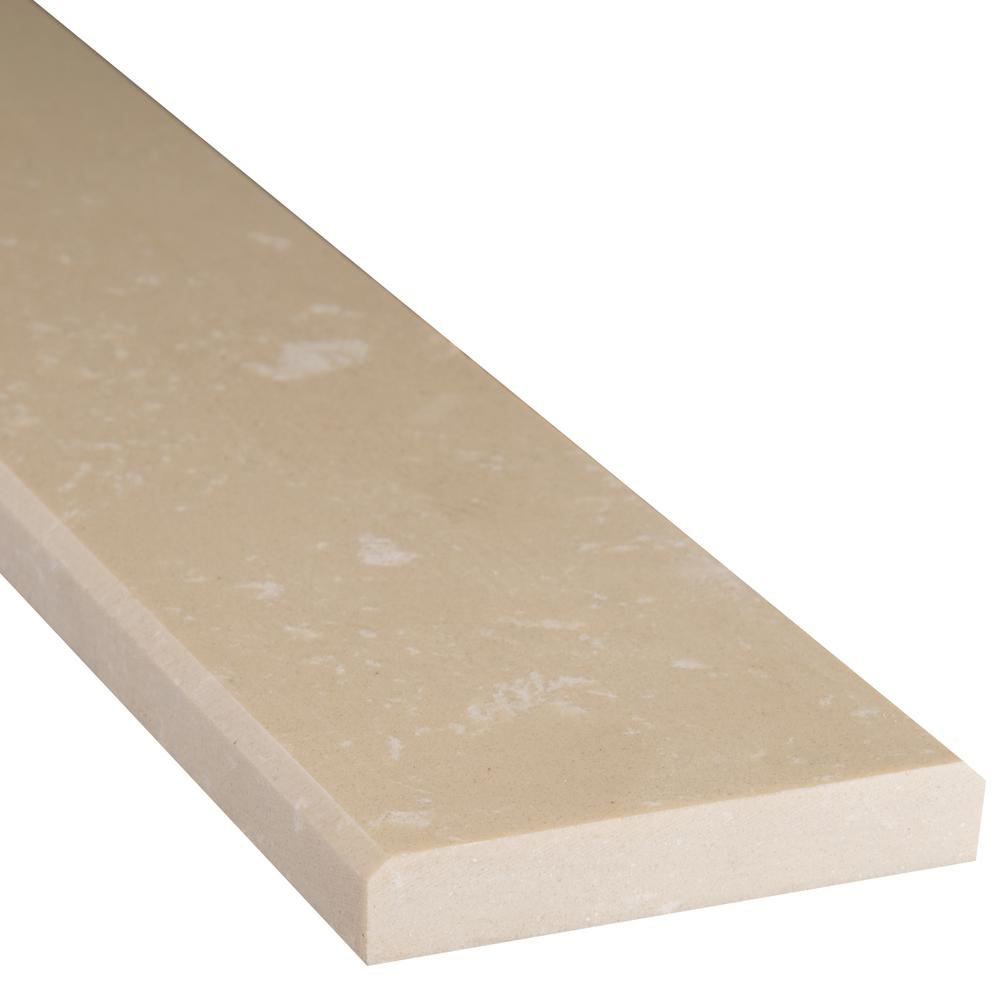 Beige Double Bevelled 2 in. x 36 in. Engineered Marble Threshold
