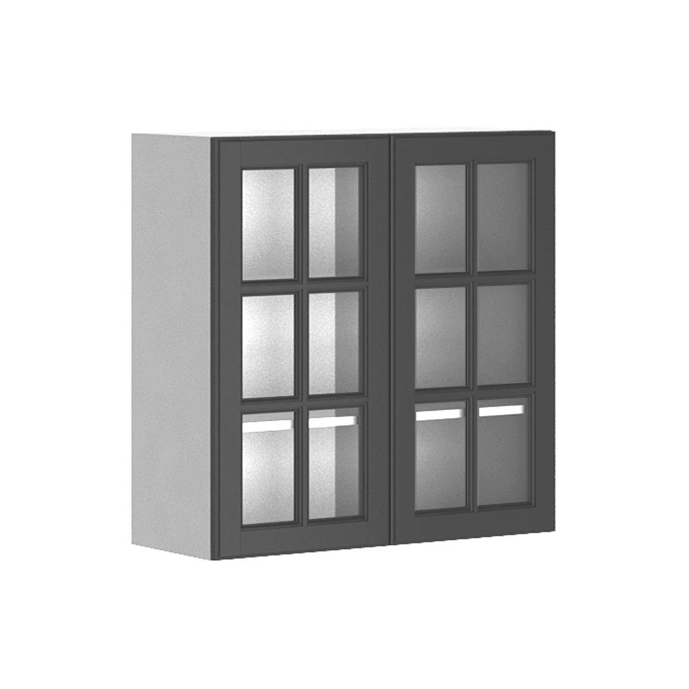 glass door kitchen wall cabinet fabritec 30x30x12 5 in buckingham wall cabinet in white 15844
