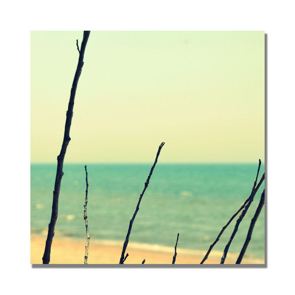 Trademark Fine Art 35 in. x 35 in. Branches on the Beach Canvas Art
