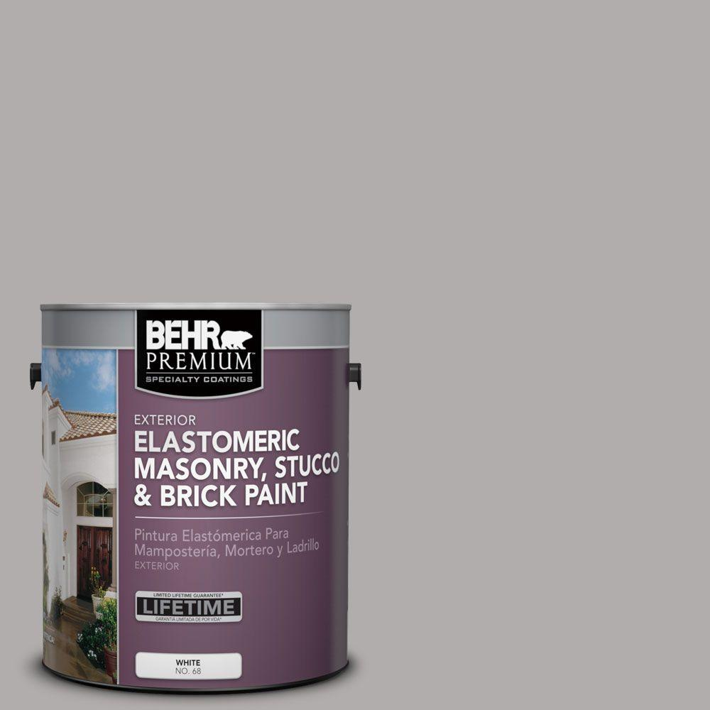 1 gal. #MS-81 Crater Gray Elastomeric Masonry, Stucco and Brick Paint