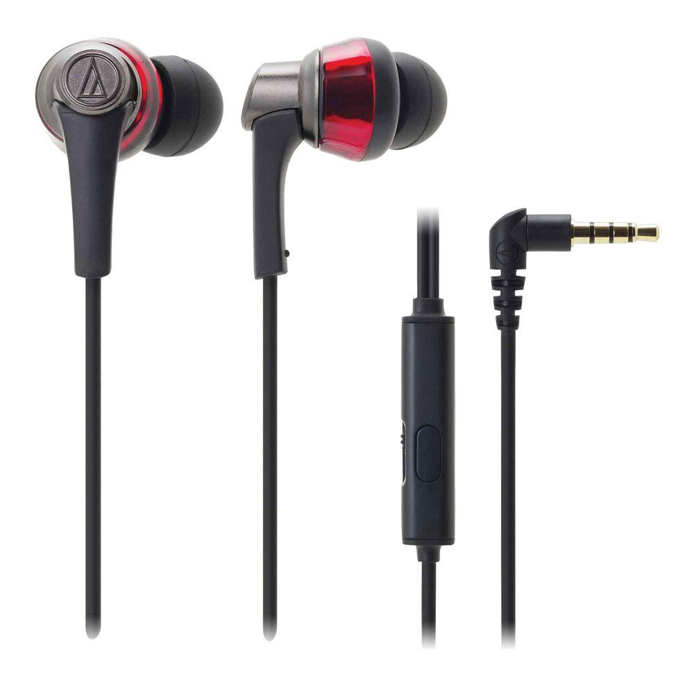 SonicPro In-Ear Headphones with In-Line Microphone and Control - Red