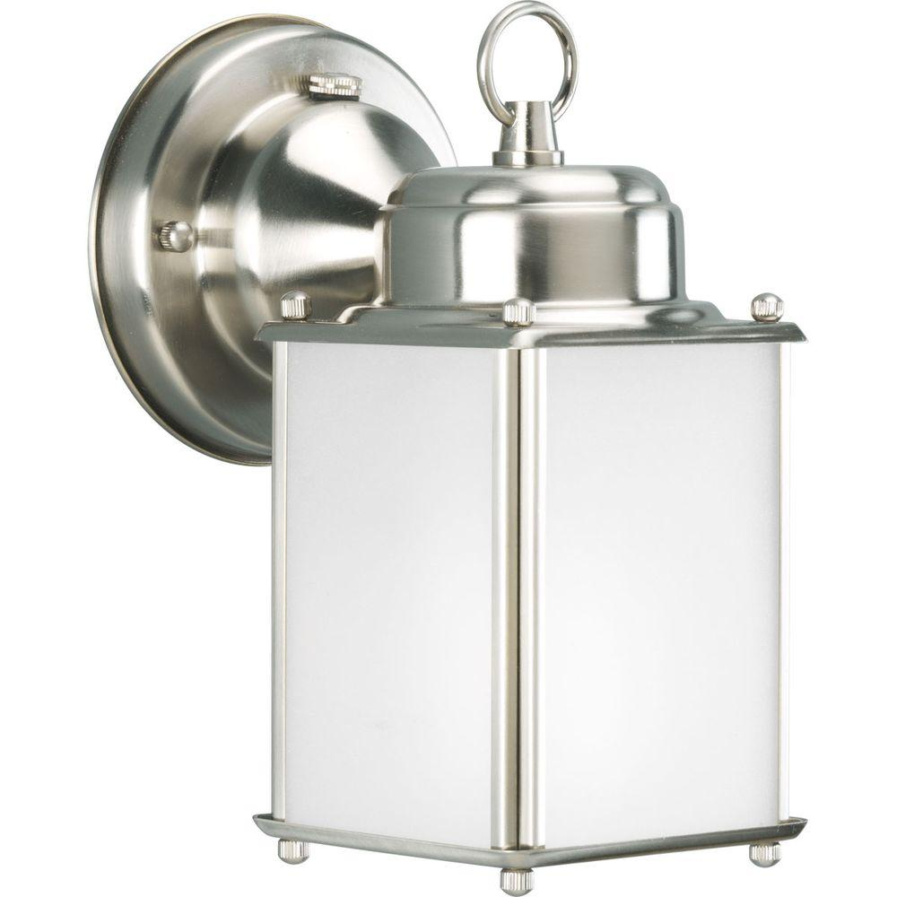 Progress Lighting Roman Coach Collection Outdoor Brushed Nickel Wall Lantern-DISCONTINUED