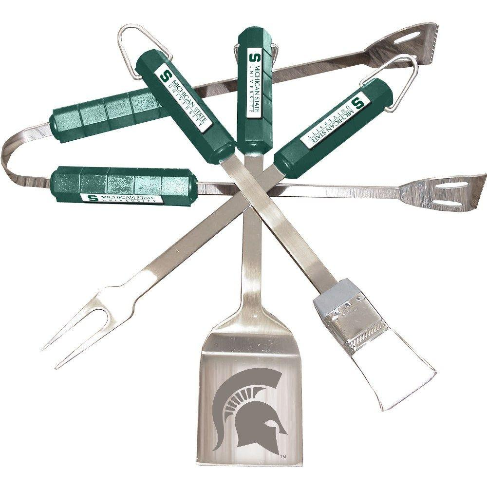 BSI Products NCAA Michigan State Spartans 4-Piece Grill Tool Set