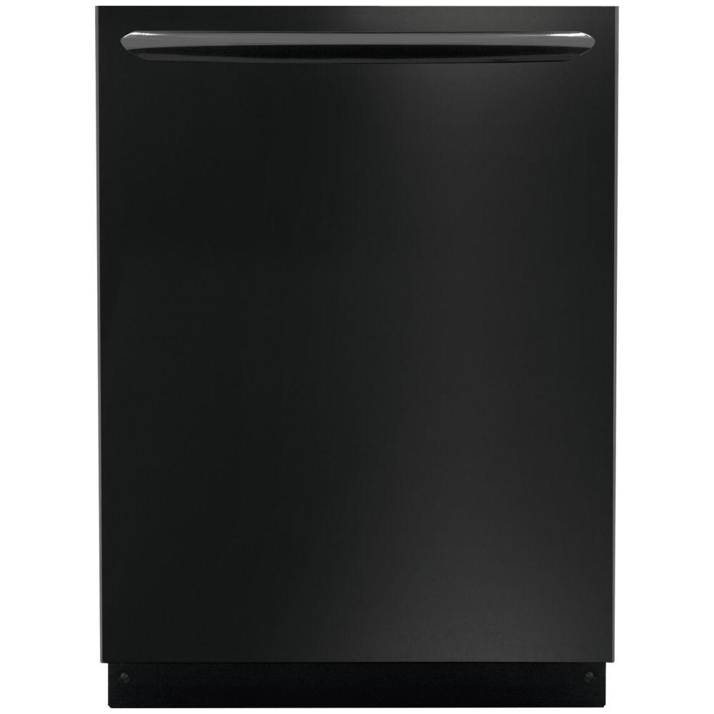 Frigidaire Gallery Top Control Dishwasher in Black with Stainless Steel Tub and OrbitClean