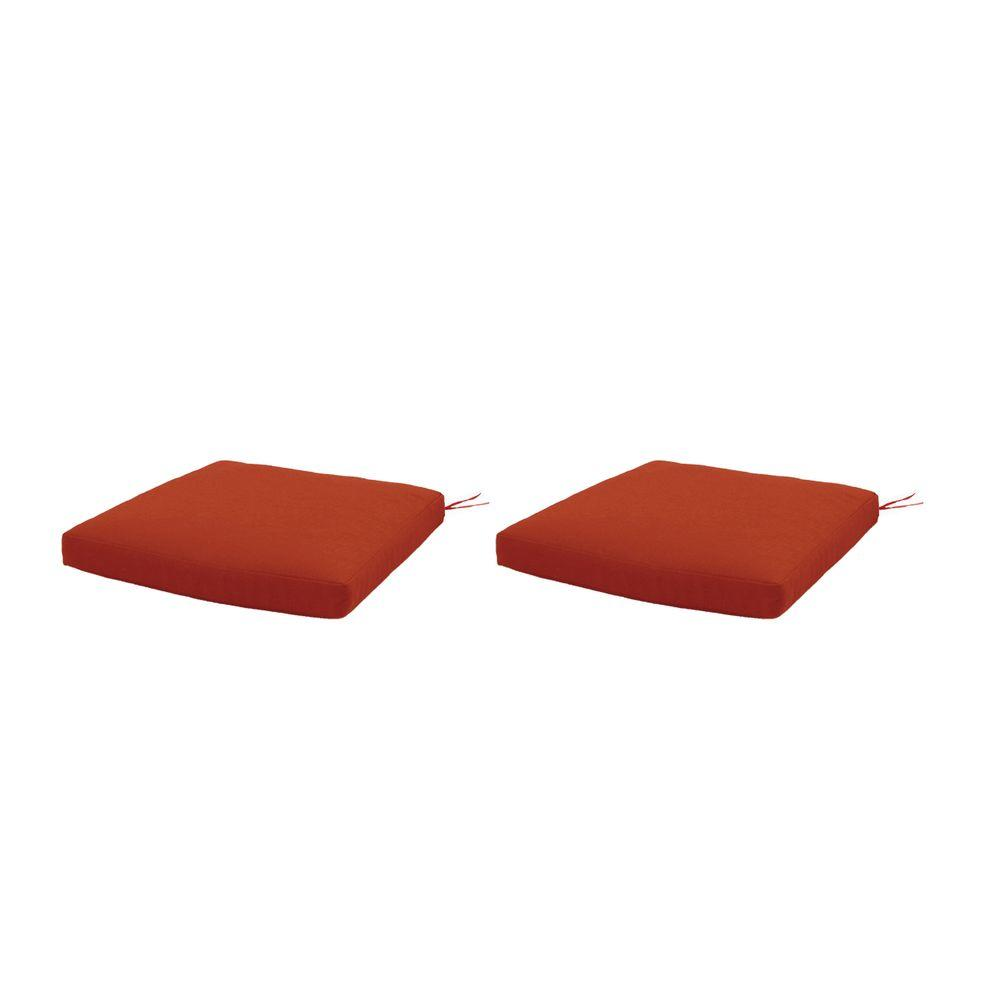 Martha Stewart Living Charlottetown Quarry Red Replacement Outdoor Dining Chair Cushion (2-Pack)