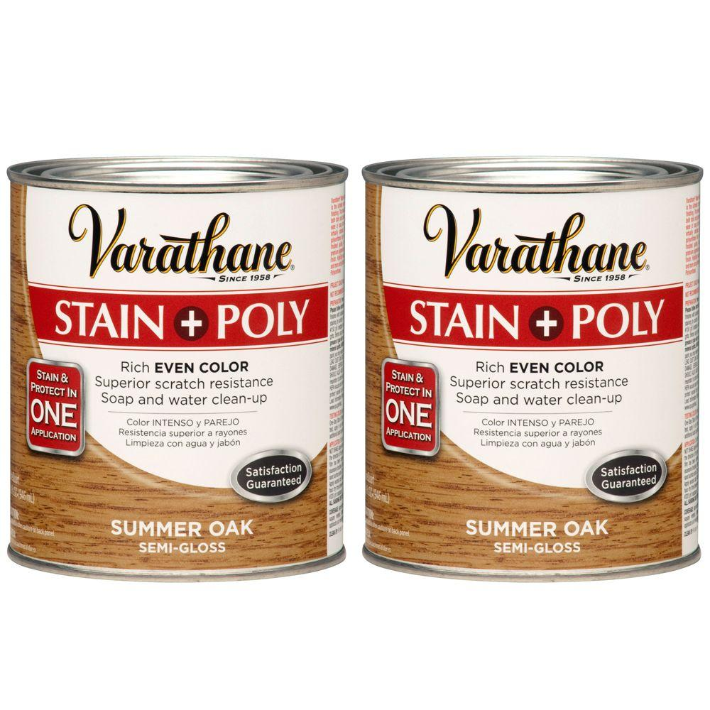 Varathane 1 Qt. Summer Oak Wood Stain and Polyurethane (2-Pack)-DISCONTINUED