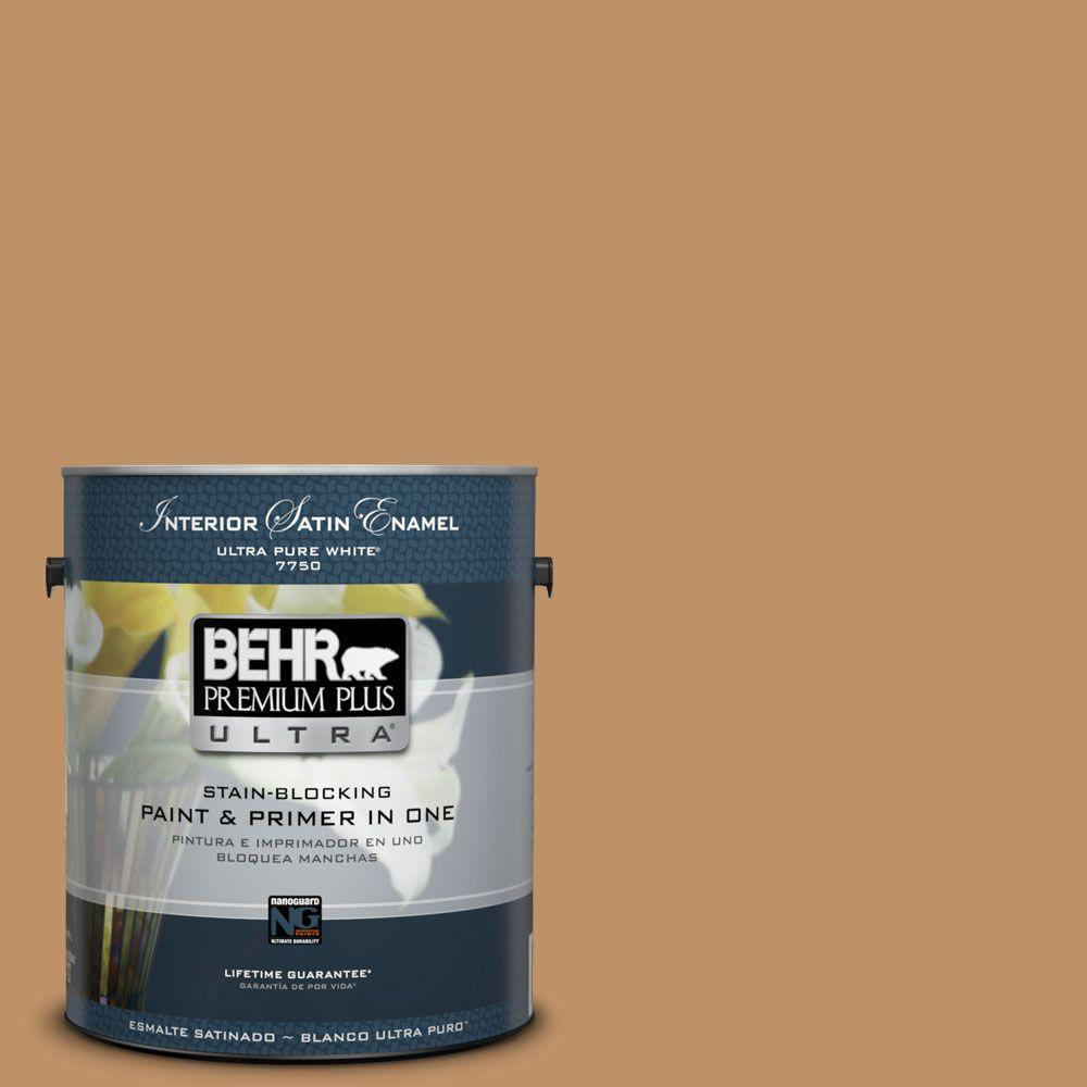Home Decorators Collection 1-gal. #HDC-CL-15 Burnished Caramel Satin Enamel