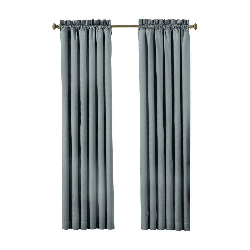 Canova Blackout River Blue Curtain Panel, 95 in. Length