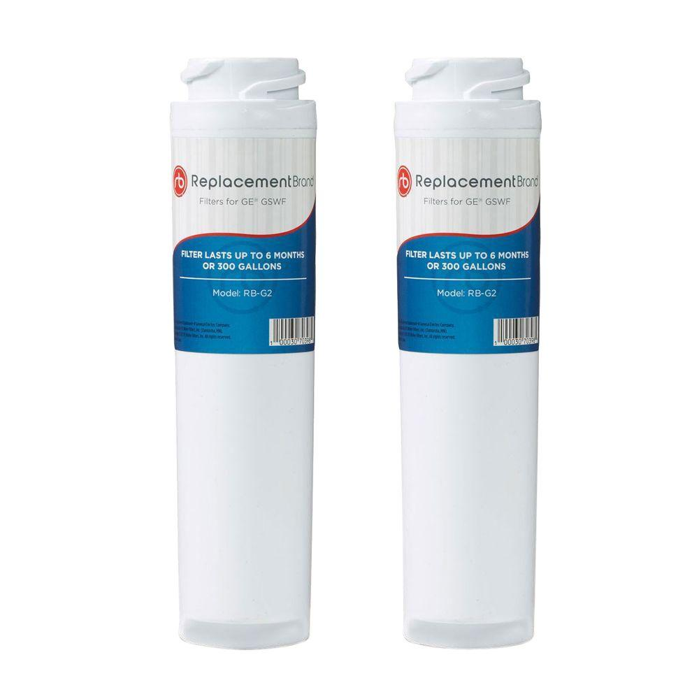 ReplacementBrand Refrigerator Water Filter Comparable to GE GSWF (2-Pack)