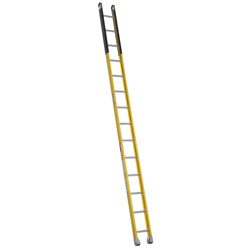 14 ft. Fiberglass Manhole Extension Ladder with 375 lb. Load Capacity