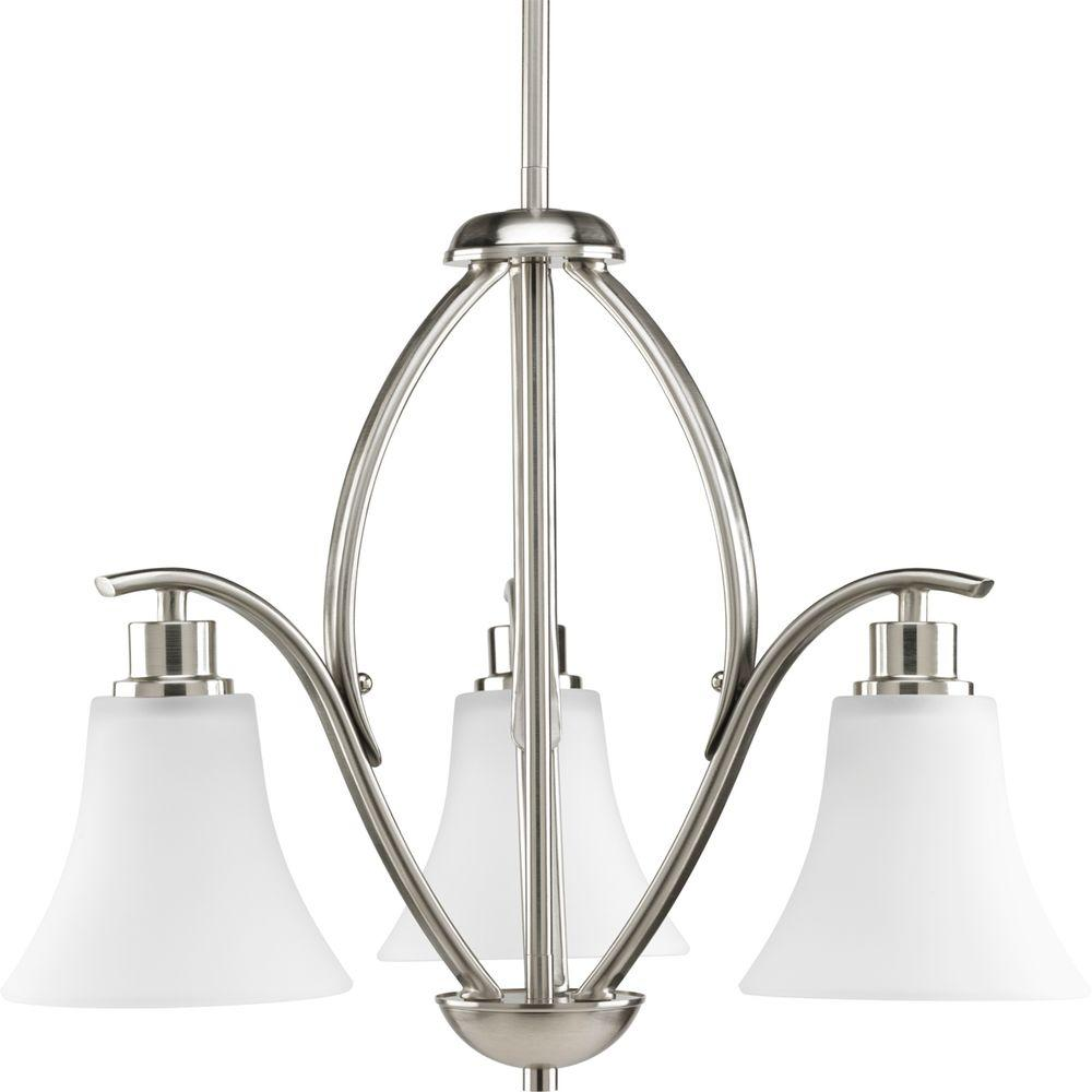 Joy Collection 3-Light Brushed Nickel Chandelier