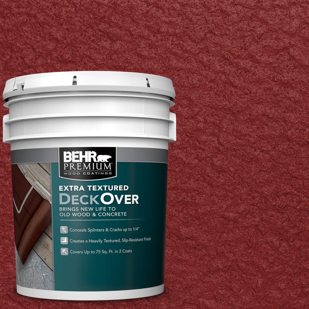 5 gal. #SC-112 Barn Red Extra Textured Wood and Concrete Coating