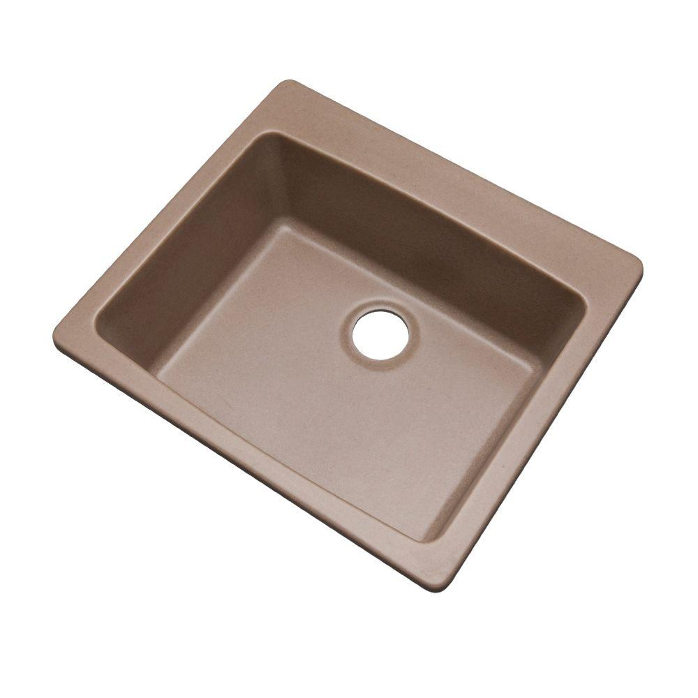 Northbrook Dual Mount Composite Granite 25 in. Single Bowl Kitchen Sink in Natural