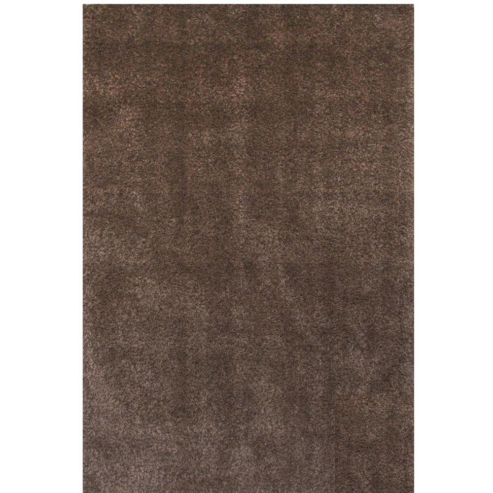 Sams International Comfort Shag Chocolate 7 ft. 9 in. x 10 ft. 6 in. Area Rug