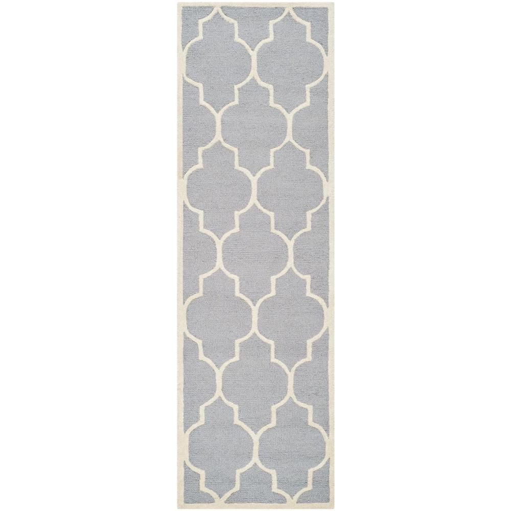 Cambridge Silver/Ivory 2 ft. 6 in. x 10 ft. Runner
