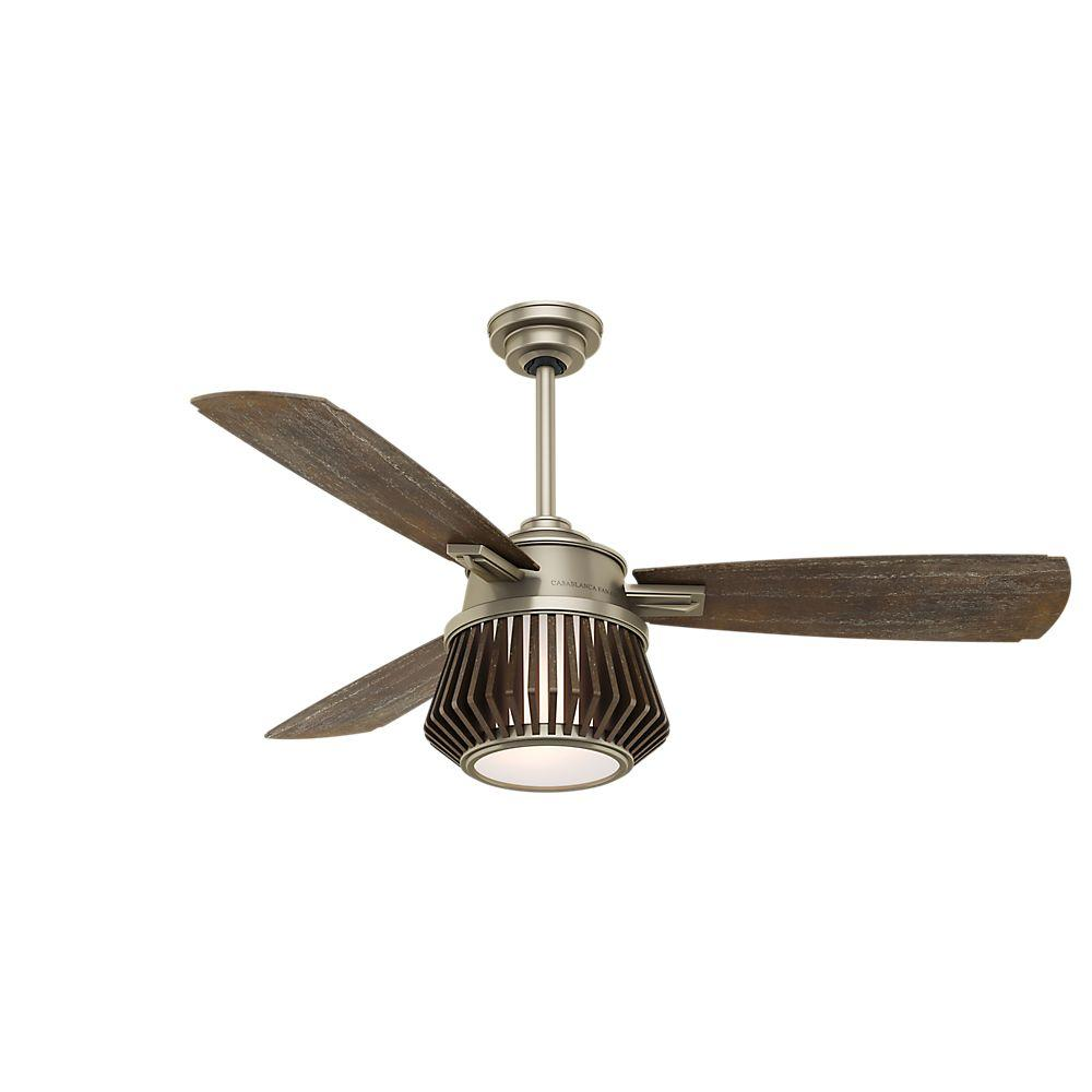 Casablanca Glen Arbor 56 in. LED Indoor Metallic Birch Ceiling Fan-59163