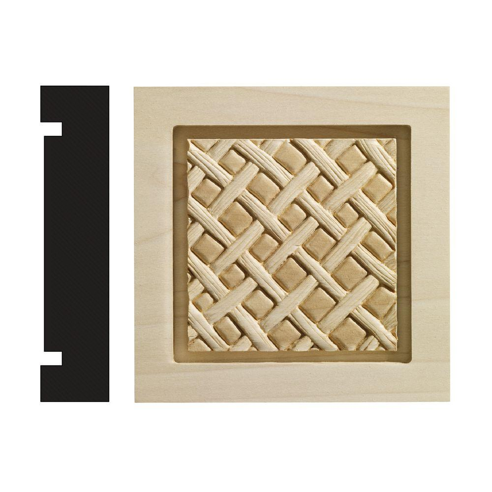 Ornamental Mouldings Loose Weave Collection 1-3/16 in. x 5-1/2 in. x