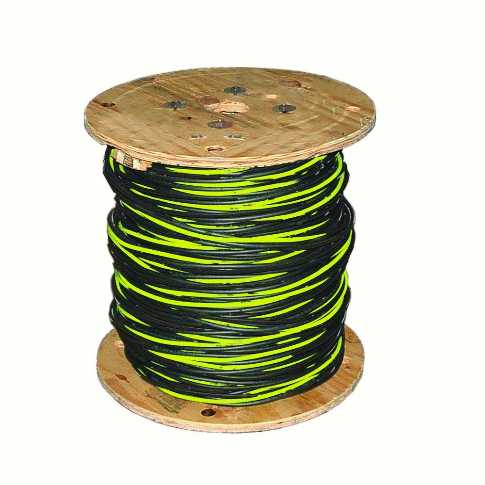 Southwire Stephens 500 ft. 2-2-4 Black Stranded Al URD Cable-55417505 -