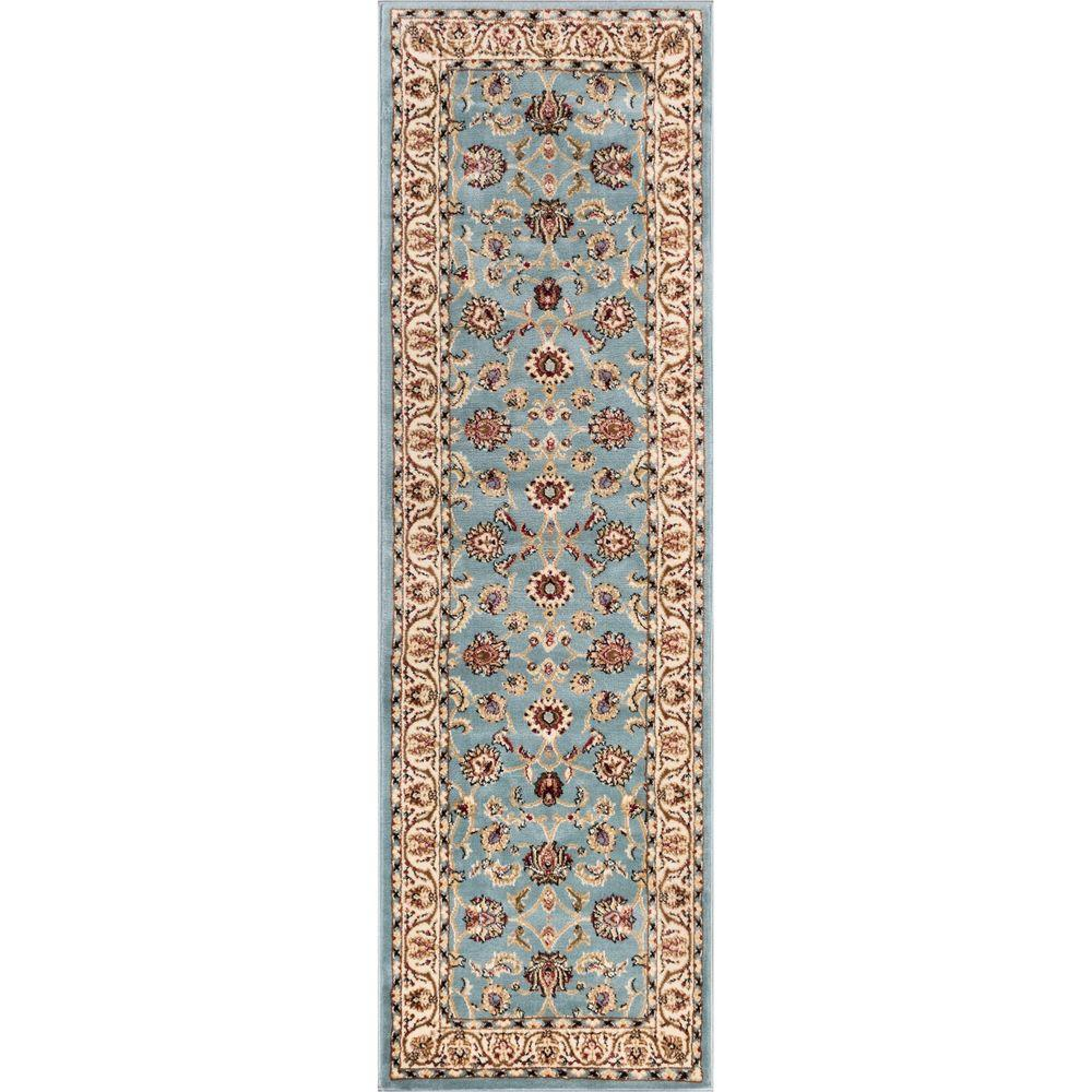 Well Woven Barclay Sarouk Light Blue 2 ft. 7 in. x