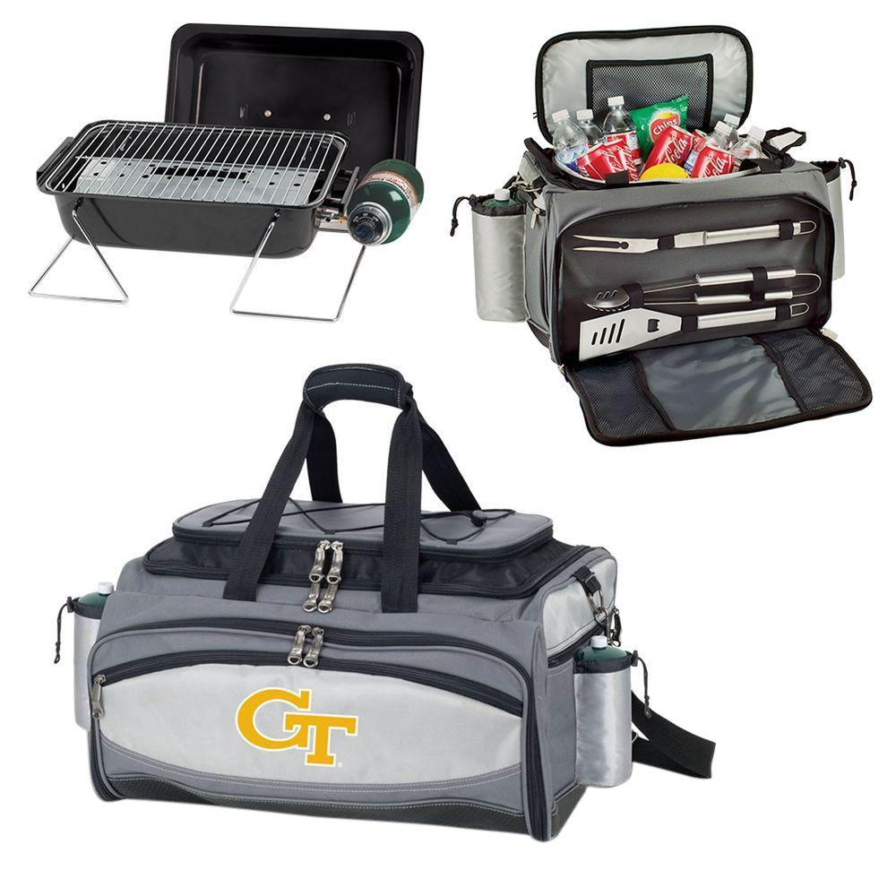 Vulcan Georgia Tech Tailgating Cooler and Propane Gas Grill Kit with