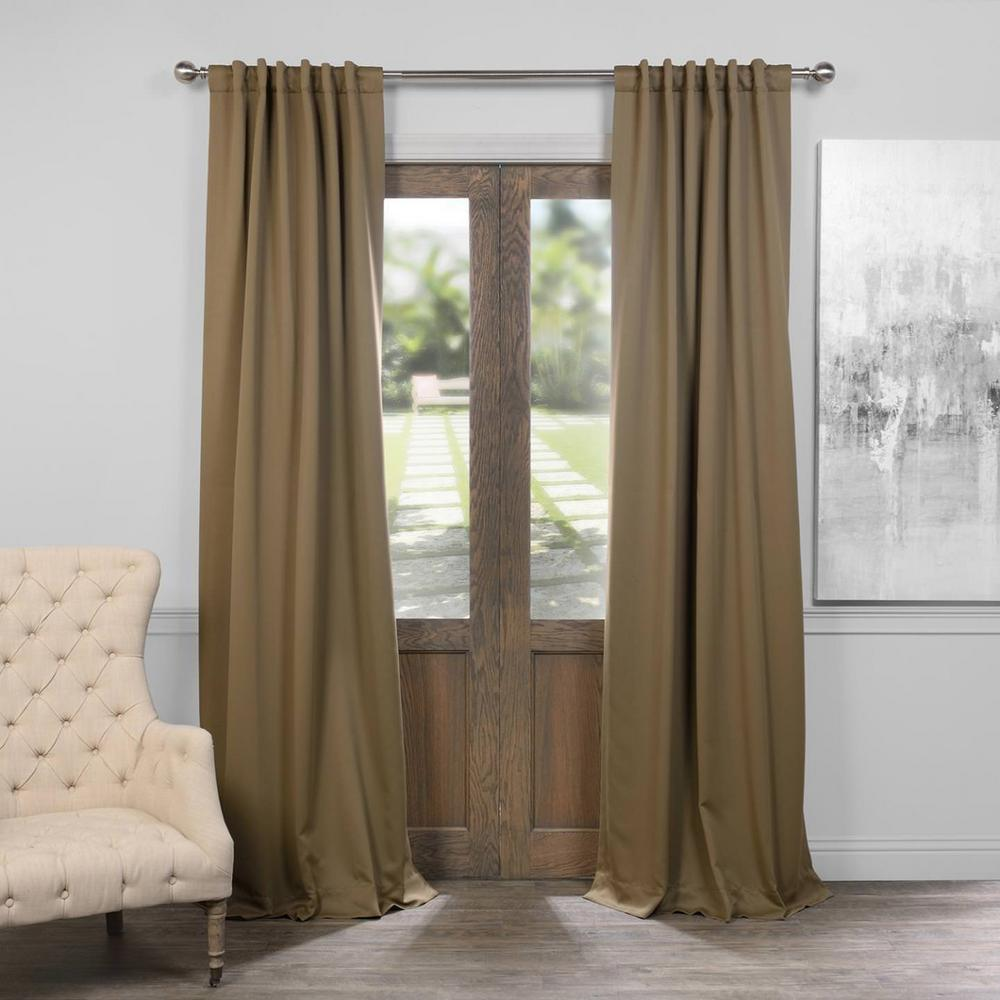 Exclusive Fabrics & Furnishings Fog Grey Blackout Curtain