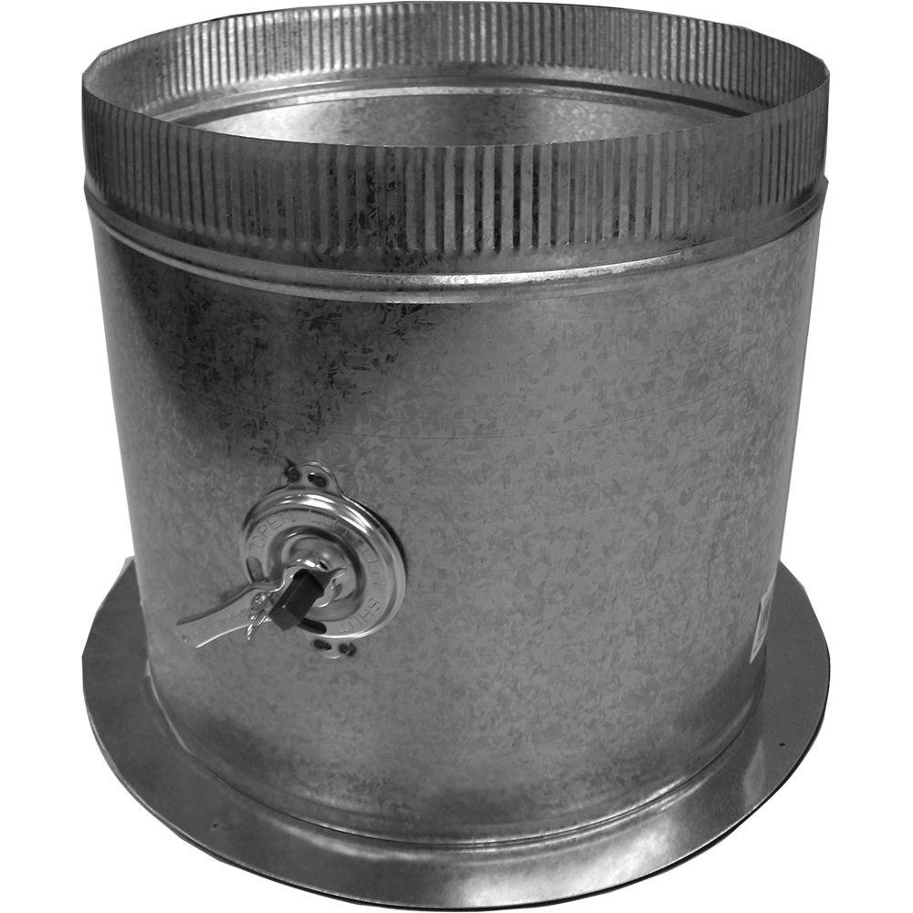 Speedi-Products 14 in. Dia Galvanized Take Off Start Collar and Gasket