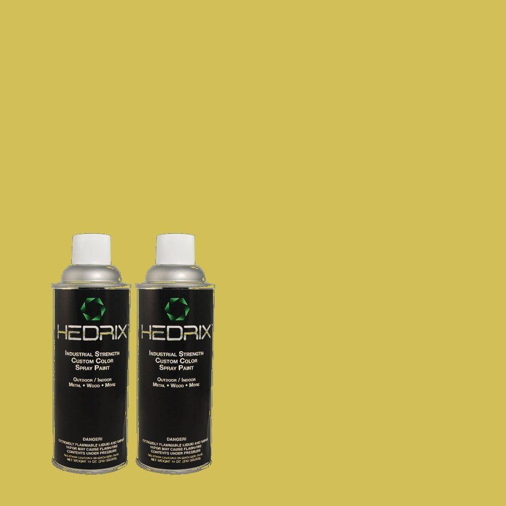 Hedrix 11 oz. Match of 1A62-4 Chartreuse Low Lustre Custom Spray