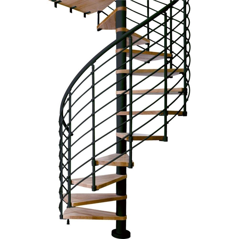Dolle Oslo 55 in. 15-Tread Spiral Staircase Kit-67414-4 - The Home