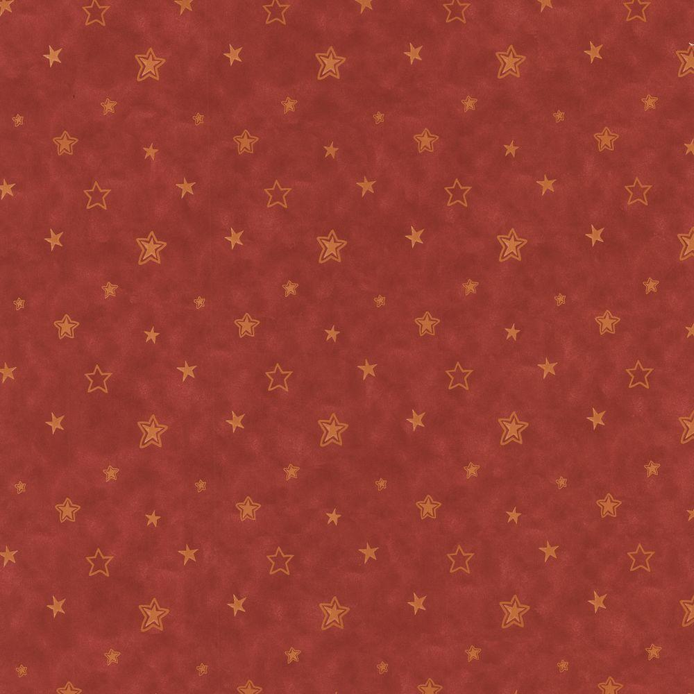 56 sq. ft. Merlin Red Stars Wallpaper, Multicolor