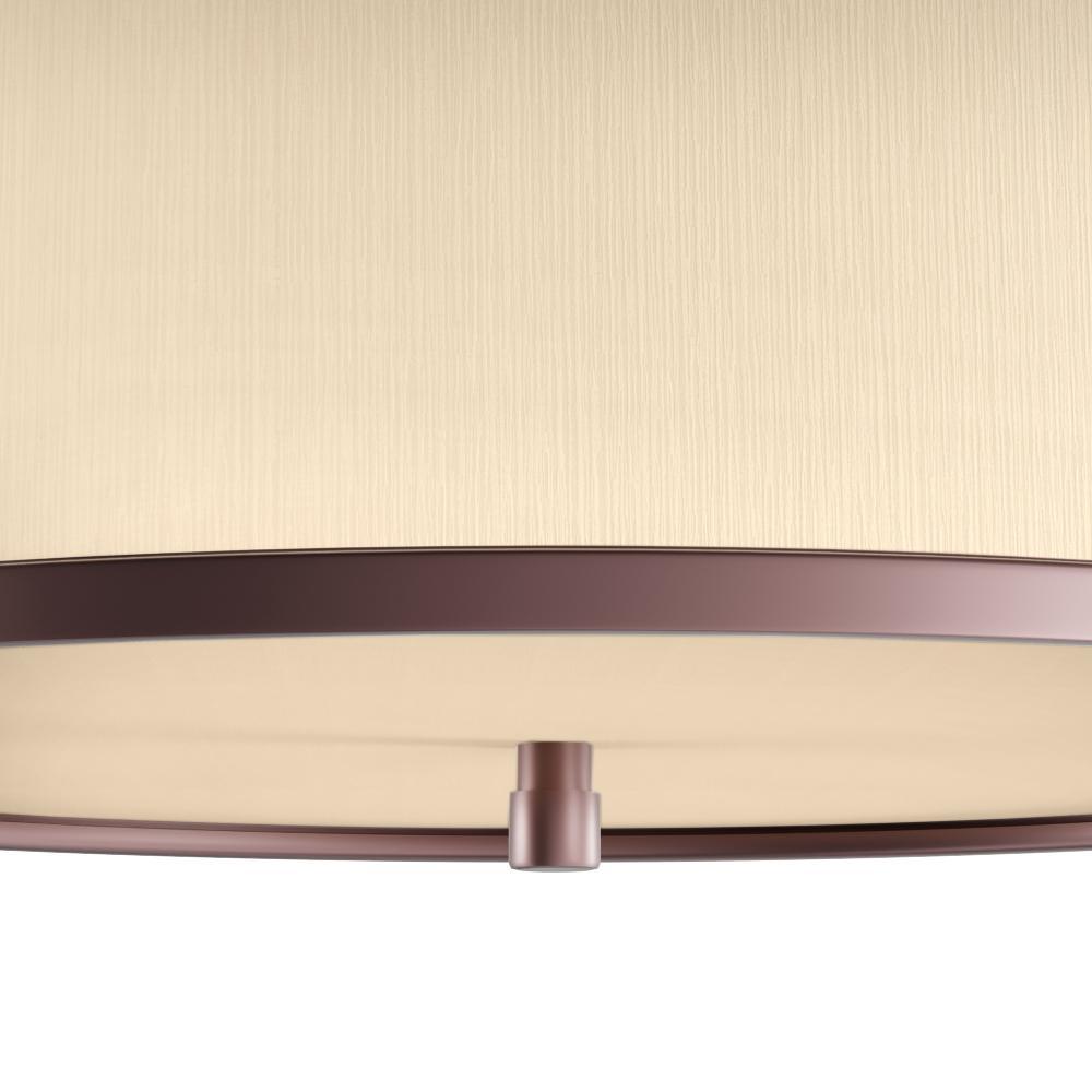 Flush mount light featuring modern style lines