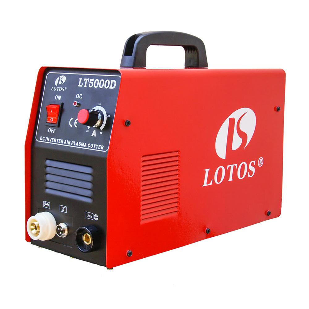 Lotos 50 Amp Compact Inverter Plasma Cutter for Metal, Du...