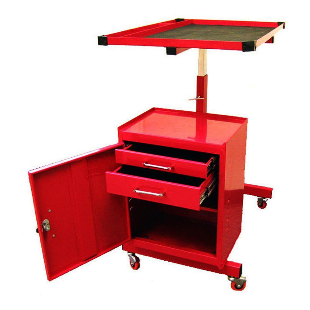 Excel 31.7 in. Steel Tool Utility Cart, Red-TC304C - The Home