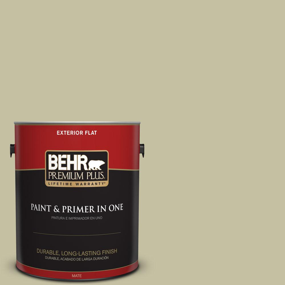 1-gal. #S350-3 Washed Olive Flat Exterior Paint
